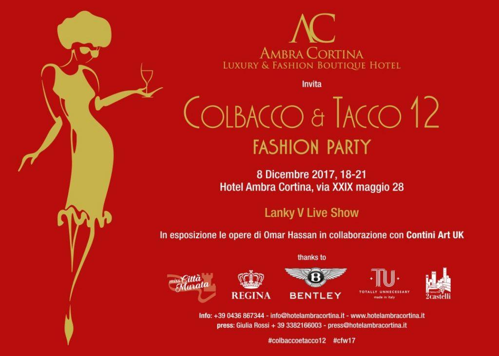 Invito Colbacco e Tacco 2017 Hotel Ambra Cortina