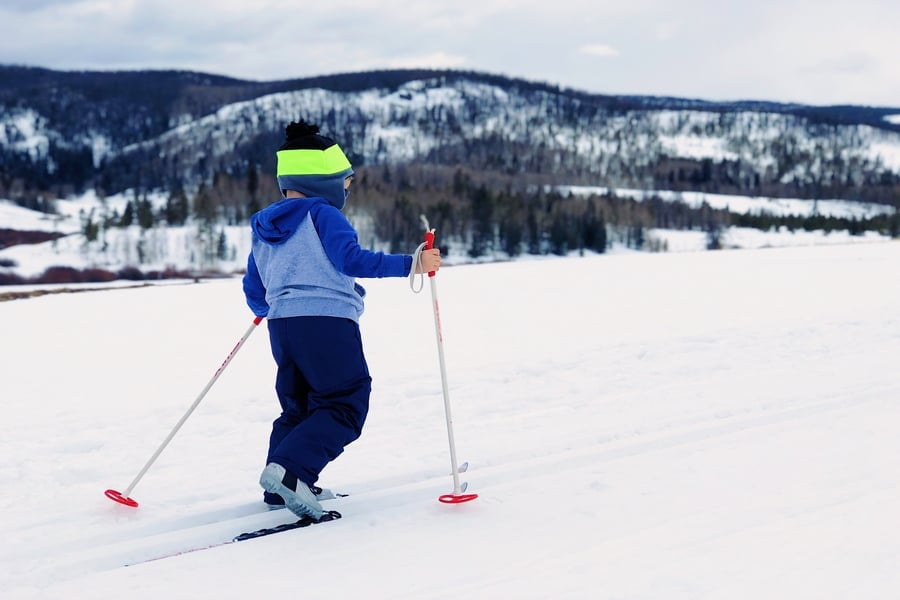 Skiing with kids in the Italian Dolomites