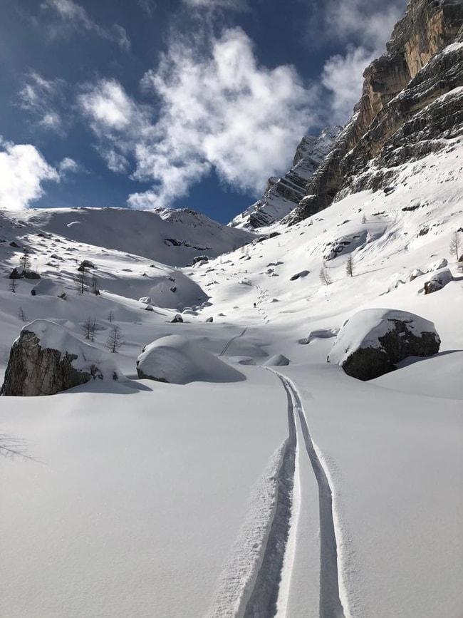 Piste da sci nelle Dolomiti
