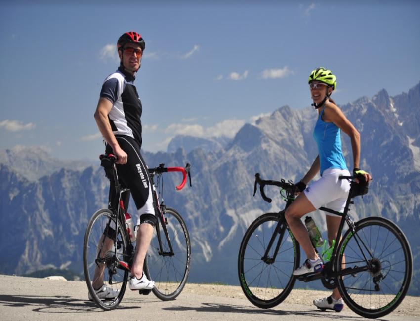 Fat bike in the Alps