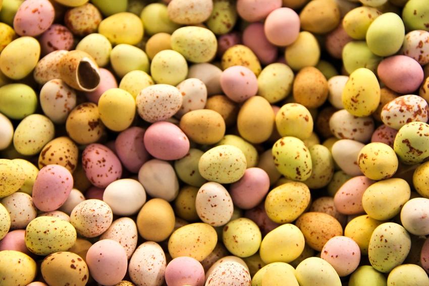 La caccia delle uova colorate di Pasqua