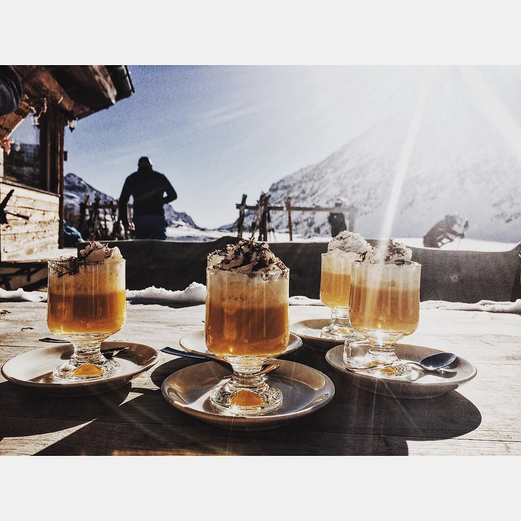 Ever tried a bombardino in a rifugio in the Dolomites?