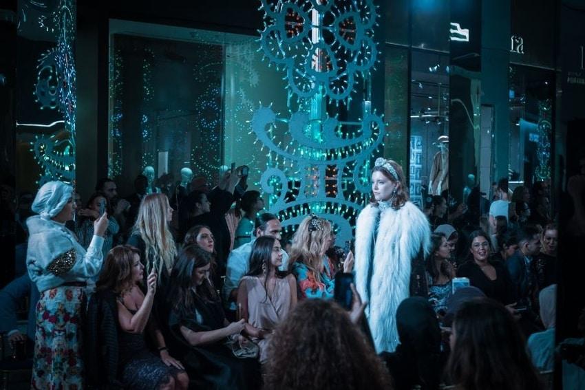 A fashion catwalk