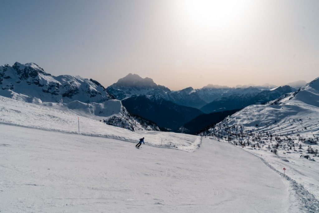 Skiing in Cortina d'Ampezzo